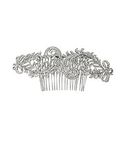 Nina Bridal Karena Swarovski® & Glass Crystal Hair Comb - Antique Silver