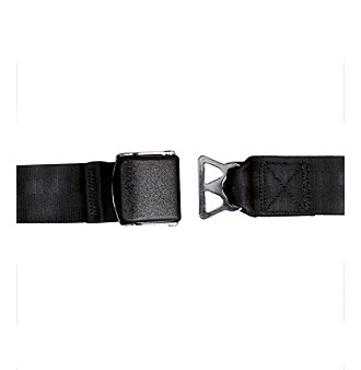 LivingXL Airplane Seat Belt Extender Model B - Black