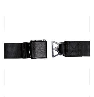 LivingXL Airplane Seat Belt Extender Model B - Black