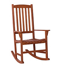 Holly & Martin™ Jameson Natural Finish Eucalyptus Porch Rocker