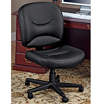 LivingXL Executive Leather Office Chair - Black
