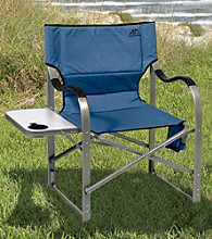 LivingXL Blue Alps Extra-Wide Folding Aluminum Camp Chair