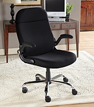 LivingXL Extra-Wide Convertible Lift-Up Arm Office Chair - Black