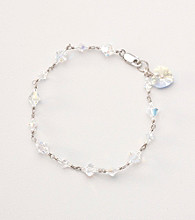 Sterling Silver Crystal Stations Bracelet