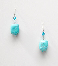 Sterling Silver Howlite Turquoise Nugget Earrings