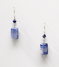 Sterling Silver Sodalite Nugget Earrings