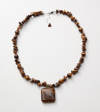 Sterling Silver Tiger's Eye Pendant Necklace