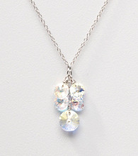 Sterling Silver Crystal Cluster Necklace