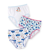 Hello Kitty® Toddler Girls' White/Blue 3-pk. Panties