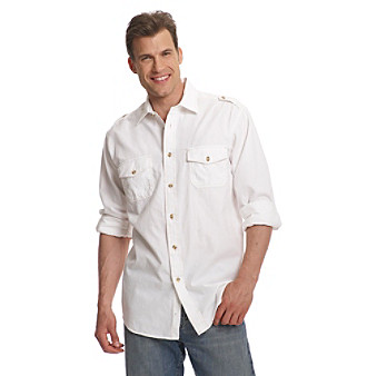 Ruff Hewn Men's Solid Shirt with Epaulets