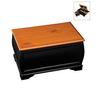 "Mele & Co. ""Petra"" Large Jewelry Box - Cedar/Black"