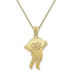 Dora the Explorer Gold-Over-Sterling Silver Pendant