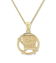 SpongeBob SquarePants Gold-Over-Sterling Silver Round Pendant
