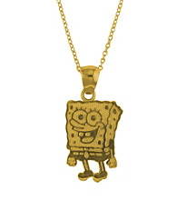 SpongeBob SquarePants Gold-Over-Sterling Silver Pendant