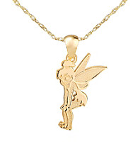 Tinker Bell® Gold-Over-Sterling Silver Pendant