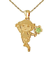 Dora the Explorer Gold-Over-Sterling Silver August Birthstone Pendant
