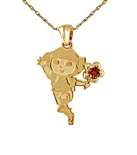 Dora the Explorer Gold-Over-Sterling Silver January Birthstone Pendant