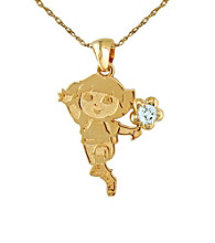 Dora the Explorer Gold-Over-Sterling Silver March Birthstone Pendant