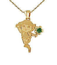 Dora the Explorer Gold-Over-Sterling Silver May Birthstone Pendant