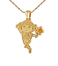 Dora the Explorer Gold-Over-Sterling Silver November Birthstone Pendant