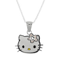 Hello Kitty® Sterling Silver April Birthstone Pendant