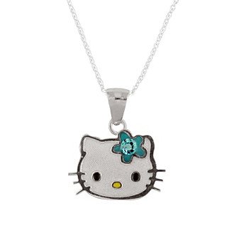 Hello Kitty® Sterling Silver December Birthstone Pendant