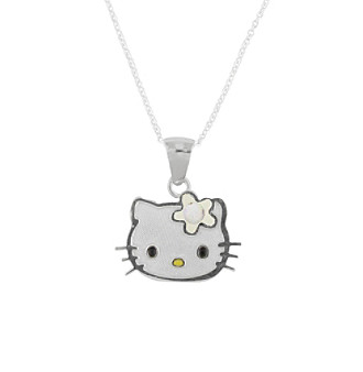 Hello Kitty® Sterling Silver October Birthstone Pendant