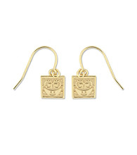 SpongeBob® Gold-Over-Sterling Silver Dangle Earrings