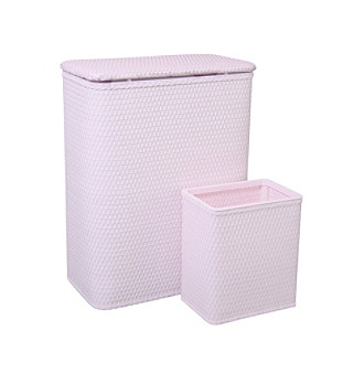Redmon Chelsea Collection Hamper and Matching Wastebasket Set