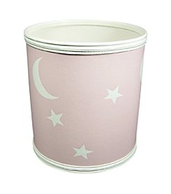 Redmon Stars and Moons Pattern Vinyl Nursery Wastebasket