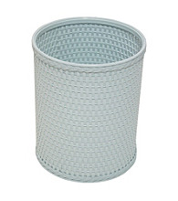 Redmon Chelsea Collection Decorator Color Round Wicker Wastebasket