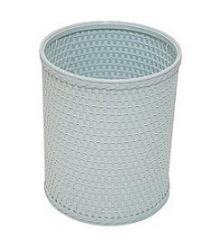 Redmon Chelsea Collection Decorator Color Round Wicker Wastebasket