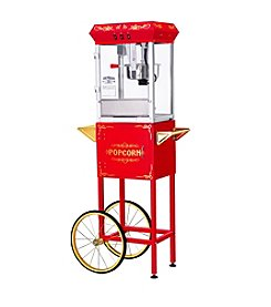 Great Northern Popcorn Company All Star GNP-800 8-oz. Red Popcorn Popper & Cart