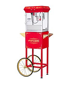 Great Northern Popcorn Company All Star GNP-400 4-oz. Red Popcorn Popper & Cart