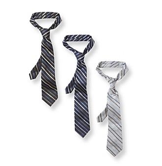 Calvin Klein Boys' Gem Stripe Tie