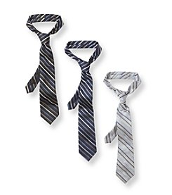 Calvin Klein Boys' Gem Striped Tie