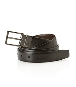 Calvin Klein Men's Reversible Shine Belt - Black/Brown