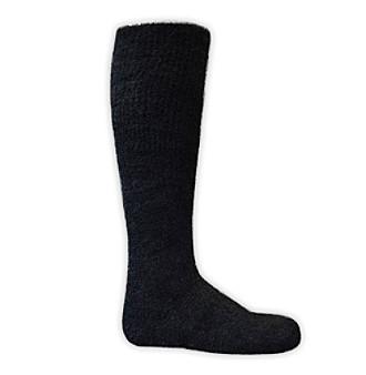 MUK LUKS® Men's Black ComfortFit Micro Chenille Knee Socks