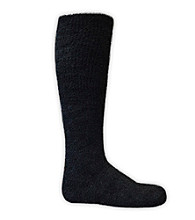 MUK LUKS® Men's Black ComfortFit Micro Chenille Knee Socks