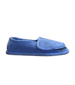 MUK LUKS ComfortFit Men's Terry Adjustable Open-Toe Full-Foot Slipper