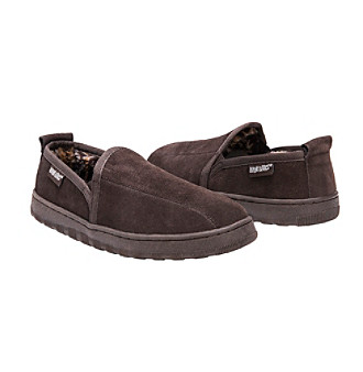 MUK LUKS Men's Double Gore Berber Suede Slipper