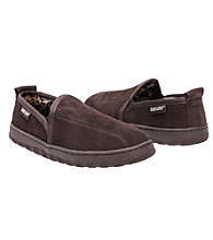 MUK LUKS® Men's Double Gore Berber Suede Slipper