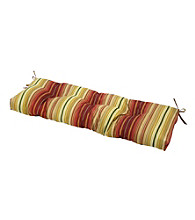 Greendale Home Fashions Outdoor Swing or Bench Cushion - Kinnabari Stripe