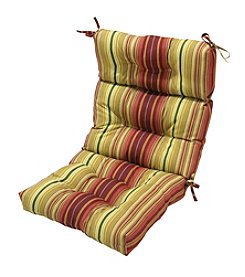 Greendale Home Fashions Outdoor High Back Chair Cushion - Kinnabari Stripe