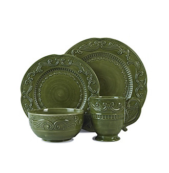Fitz and Floyd® Ricamo Green 4-pc. Place Setting