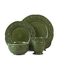 Fitz and Floyd Ricamo 4-Piece Dinnerware Set - Green