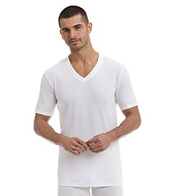 John Bartlett Statements Men's 3-Pack V-Neck Tee Shirts - White