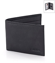 Calvin Klein Men's Leather Passcase - Black