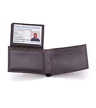 Calvin Klein Men's Leather Passcase - Brown