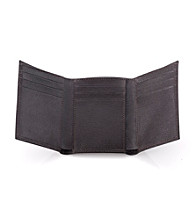 Calvin Klein Men's Leather Trifold - Brown
